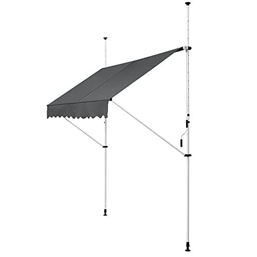 ArtLife Klemmmarkise Kuwait 300 x 120 cm – höhenverstellbar - Markise mit Handkurbel - ohne Bohren -...