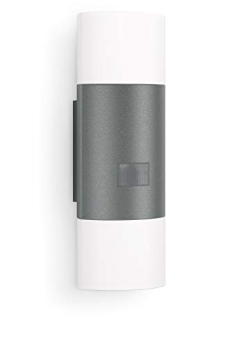 Steinel Wandleuchte L 910 LED anthrazit, 11 W, 755 lm, 180° Bewegungsmelder, 12 m Reichweite, Dauerlicht,...