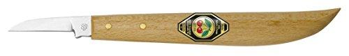 Kirschen 3358000 Kerbschnitzmesser / Schnitzmesser ; Messer mit rundem Rücken und gerader Schneide aus...