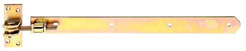 GAH-Alberts 318253 Ladenband   gerade, Abschluss abgerundet, verstellbar um 30 mm   galvanisch gelb verzinkt  ...