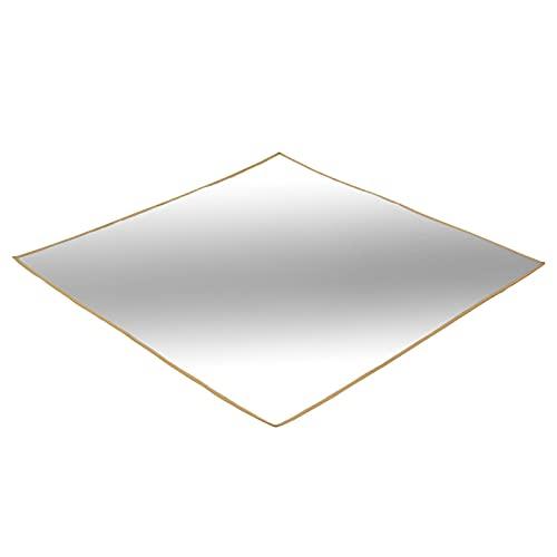 Vigcebit Feuerstelle Matte, 39 X 39 Zoll Quadratische Feuerfeste Unterlage, Glasfaser-Aluminiumfolie...