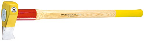 Ochsenkopf Profi-Spalthammer Big Ox, Mit Rotband-Plus Stielbefestigung, Langlebiger Stiel aus Hickoryholz