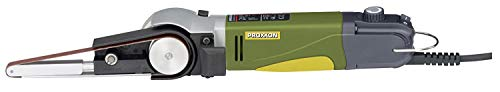 Proxxon Bandschleifer BS/E (Präzision Schleifer 80 W; je 2x Schleifband 10 x 330 mm K80, K180; Schleifarm...
