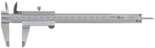 MITUTOYO Präzisionsmessschieber m. Feststellschr. DIN 862 Messbereich 0-150mm, 530-101