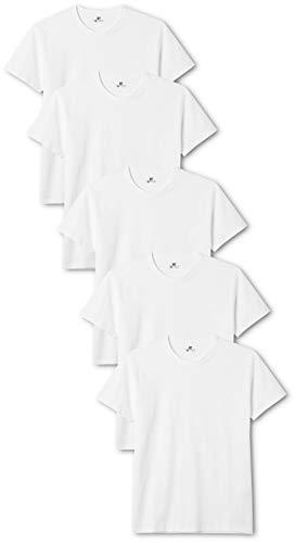 Lower East Herren T-Shirt mit Rundhalsausschnitt, Weiß (Weiß), XXX-Large, 5er Pack