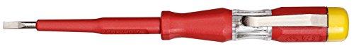 GEDORE Prüfschraubendreher für 220-250Volt Wechselspannung, 3 mm Klingenbreite, Mit Metallclip und gelber...