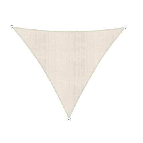 Lumaland Sonnensegel Dreieck 4 x 4 x 4 m - inkl. Befestigungsseile, Wetterbeständig, 100% HDPE mit UV Schutz...