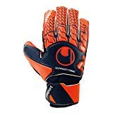 uhlsport Torwart-Handschuhe Next Level Soft SF JUNIOR, Marine/Fluo rot, 7, 101110301
