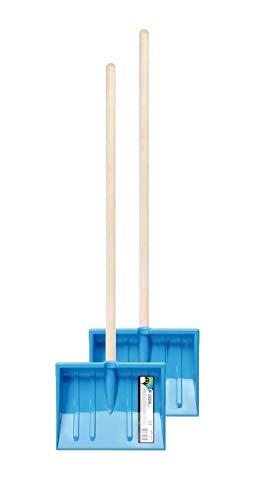 Kinder Schneeschaufel 2er Set Schaufel Kinderschaufel BOBO Schneeschieber mit Holz Stiel nd 250 mm Breiten...