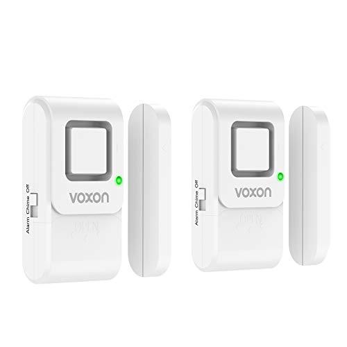 VOXON 2er Set Tür Fenster Alarm, 120dB Einbruchschutz Alarm Funk-Türsensoren mit 2 Betriebsarten, Drahtlose...