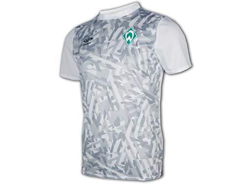 UMBRO SV Werder Bremen Warm Up Jersey weiß SVW Fußball Junior Fan Shirt Club, Größe:146
