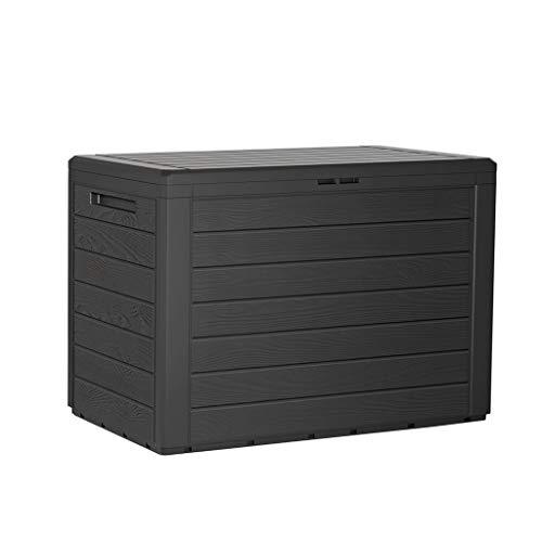 Kreher Kompakte Kissenbox/Aufbewahrungsbox in Anthrazit mit 190 Liter Volumen. Robust, abwaschbar und einfach...