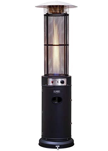 Eurom Terrassenheizung Heizstrahler Heizpilz Gas Flammenheizung 11 KW 360° mit Brennzylinder