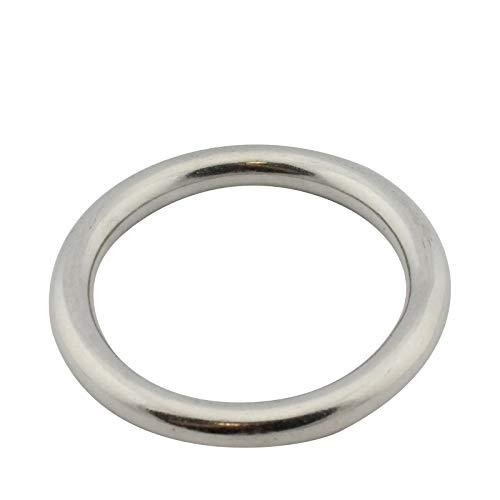 D2D | VPE: 1 Stück - Edelstahl Ring - Größe 10 x 60 mm - M8229 A4 V4A - geschweißt und poliert - Öse...