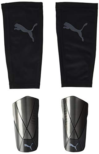 PUMA Unisex-Adult ftblNXT PRO Flex Sleeve Schienbeinschoner, Black-Asphalt, L