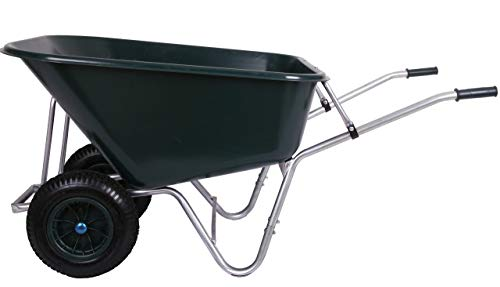 Schubkarre 200 Liter bis 250 kg Belastbarkeit, PVC, grün (Gartenkarre Bauschubkarre Baukarre Gartenschubkarre...