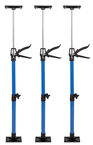 3x Türspanner stufenlos höhenverstellbar 50-115cm | Platte drehbar bis 45° | Robustes Stahlrohr | Bleibt...