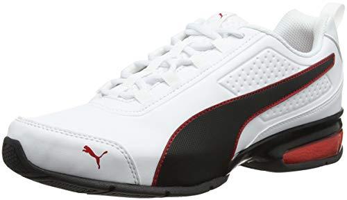 PUMA Unisex-Erwachsene Leader Vt SL Sneaker, Weiß White Black-Flame Scarlet, 44.5 EU