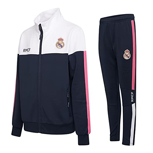 Morefootballs - Offizieller Real Madrid Trainingsanzug für Kinder - 2020/2021-140 - Langarm Trainingsjacke...