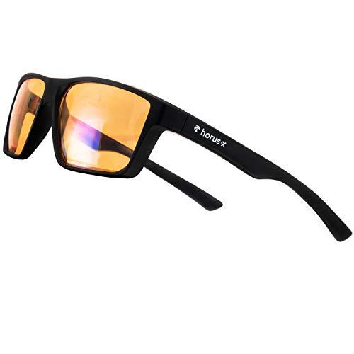 Horus X – Blaulicht-Brille GAMING 2.0 - Ruhebrille Ultimativer Schutzfilter - Anti-Blaulicht-Bildschirm...