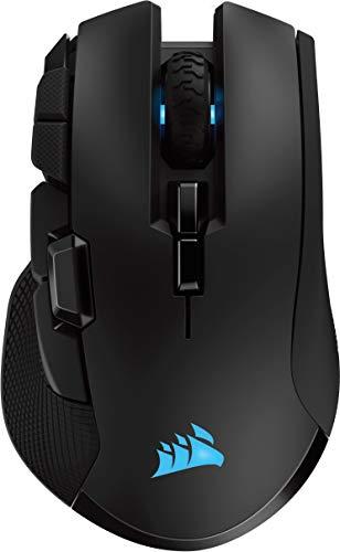 Corsair Ironclaw Wireless RGB, Wiederaufladbare Optisch Gaming Maus mit Slipstream Technologie (18.000 DPI...