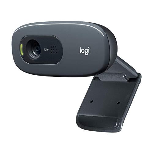 Logitech C270 Webcam, HD 720p, 60° Sichtfeld, Fester Fokus, Belichtungskorrektur, USB-Anschluss,...
