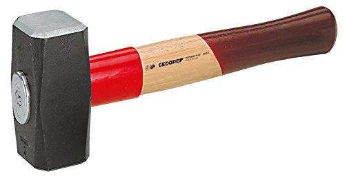 GEDORE Fäustel mit Holzgriff, 1500 g Kopfgewicht, Hammer mit Eschenstiel, Werkzeug, geschmiedet,...