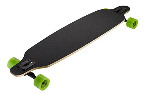 Ridge Skateboard Monster Twintip Longboard Drop Shape Low, Schwarz, One size