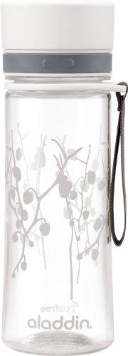 Aladdin AVEO Trinkflasche aus Tritan-Kunststoff, 0.6 Liter, White Lotus, Auslaufsicher, Durchsichtig,...