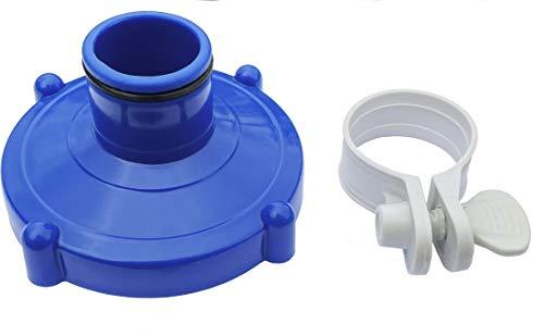 Algenschnapper Bodensauger an Filteranlage für Quick-up Pools von Intex und Bestway (80mm auf 32mm) Adapter...