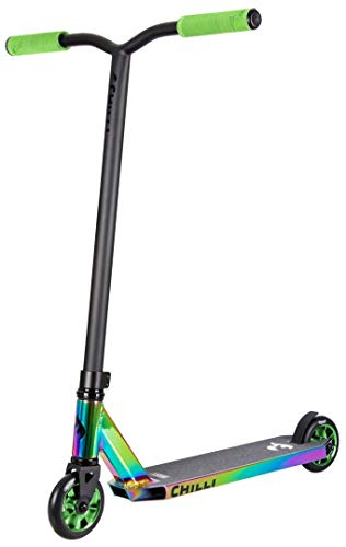 Chilli Rocky Scooter Grind Limited Edition neochrome/green | Erstklassiger Stunt-Scooter | Robuster Roller,...