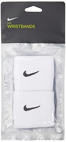 Nike 9380/4 Swoosh Schweißband, White/Black, One Size