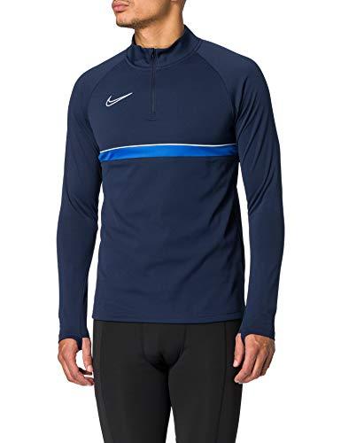 Nike Herren Dri-FIT Academy 21 Longsleeve, Obsidian/White/Royal Blue/White, M