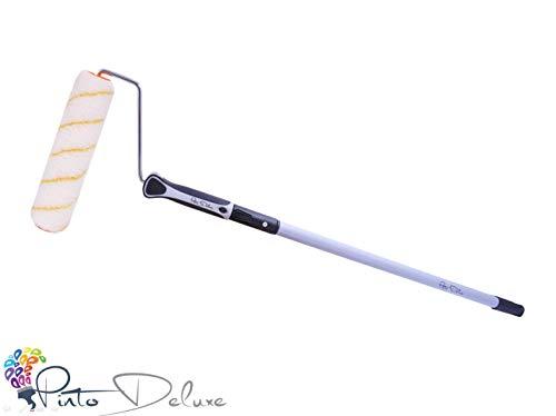 Profi und Qualitts Farbrolle/Farbroller + Teleskopstab 75-125 cm + Best Grip Bgel inkl. E-Book