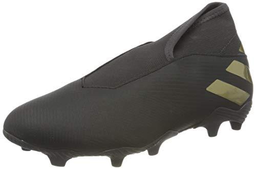 adidas Herren Nemeziz 19.3 LL FG Soccer Shoe, Core Black Gold Metallic Utility Black, 42 2/3 EU