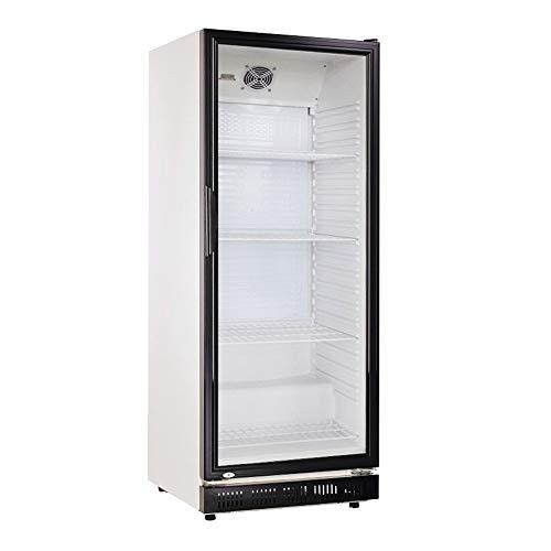 360l Getränkekühlschrank (Flaschenkühlschrank) mit Glastür. Abschließbar. Schwarz-weiß. Freistehender...