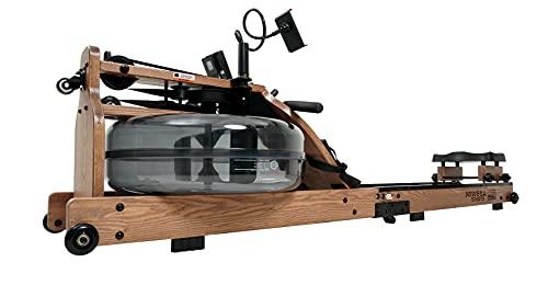 Miweba Sports Wasser-Rudergerät MR700 - Echtholz-Rudermaschine - LED-Wassertank - Klappbar - Wasserwiderstand...