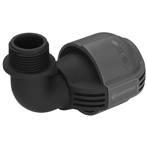 Gardena Sprinklersystem L-Stück mit Außengewinde: Anschlussstück für Versenkregner am Rohrende, 25 mm x...