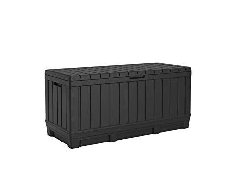 Koll Living Gartenbox Kentwood, 350 Liter Stauraum, anthrazit - kompakte Aufbewahrungsbox mit viel Platz für...