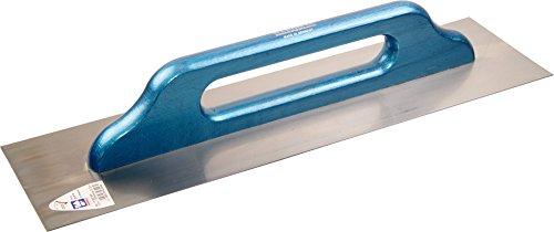 HAROMAC Schweizer Glättekelle Made in Germany, 500x130mm, rostfreier Edelstahl, blauer Holzgriff, mit...