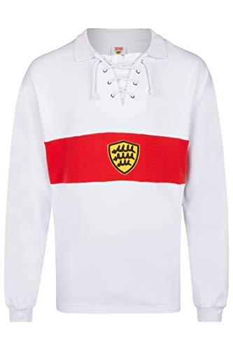 Score Draw Herren Retro - Trikot VfB Stuttgart | Retrotrikot 1928 in Weiß, Größe: M
