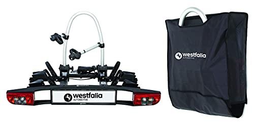 Westfalia BC 60 Fahrradträger für die Anhängerkupplung inkl. Tasche - Klappbarer Kupplungsträger für 2...