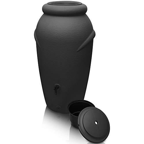 YourCasa Regentonne 210 Liter [Amphore Design] Regenfass Frostsicher aus Kunststoff - Regenwassertonne mit...