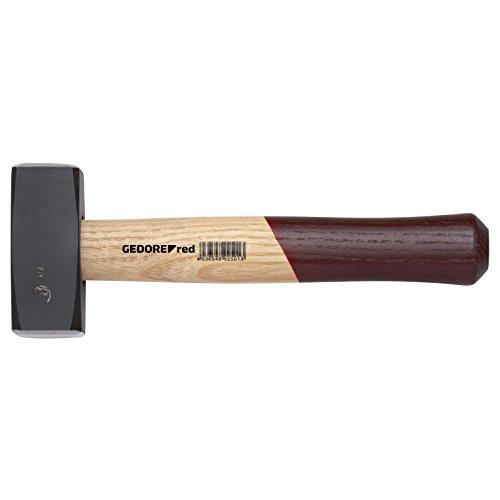 GEDORE red Fäustel mit Holzgriff, 1500 g Kopfgewicht, Hammer mit Eschenstiel, Werkzeug, geschmiedet,...