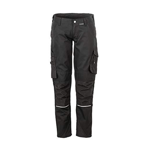 Planam Norit Damen Bundhose, Farbe: Schwarz/Schwarz, Größe: 42