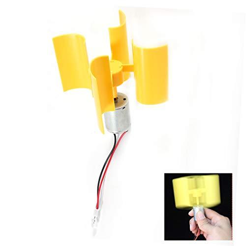 Wind Strom Generator - Mini Windkraftanlagen Generator Vertikale Wind Generator Kit DIY Lehrmodell