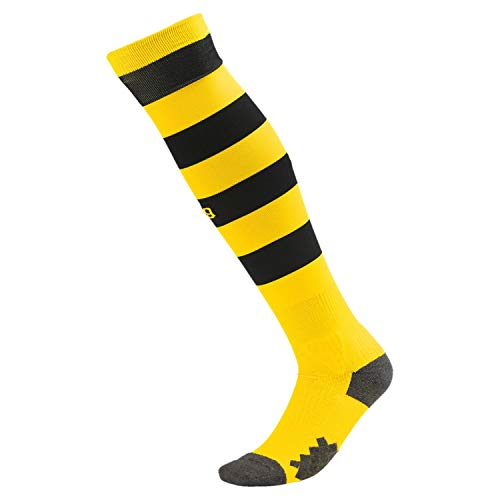 Puma Herren Team BVB Hooped Socks Stutzen, Cyber Yellow Black, 2