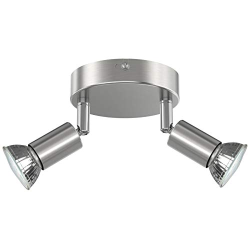 Creyer LED Deckenstrahler 2 Flammig, Schwenkbar LED Deckenleuchte, ø110mm (inkl. 2 x 4W GU10 LED...