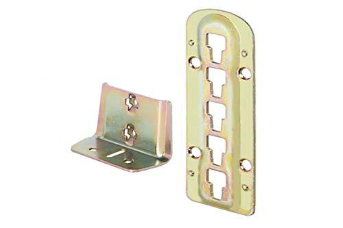 4 X Mprofi MT® Bettverbinder Bettbeschlag Einhängebeschlag höhenverstellbar für Lattenrostauflage und...