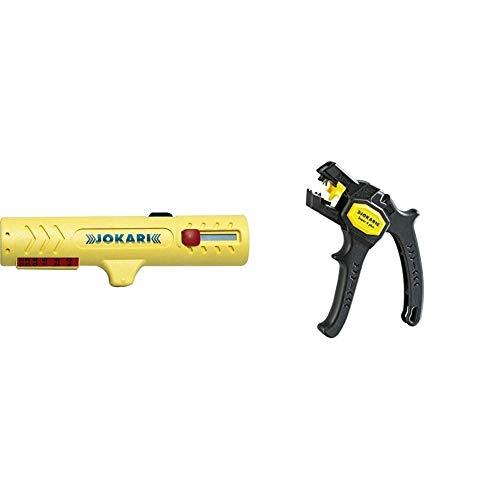 JOKARI Vielzweckabisoliermesser Nr.15 Kabel-D.8-13mm JOKARI Litzen-D.0,2-4, 30150 & 20050 Abisolierzange Super...